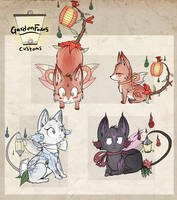 Custom GardenFoxes open for auction CLOSED. by StarDust-Adoptables