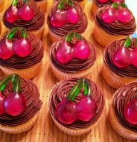 Chocolate Cherry Cupcakes II by dashedandshattered
