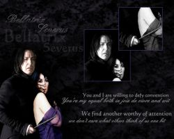 Bellatrix and Snape by PrincessofMadness