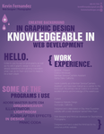 Creative Resume First Edition by NikonD50