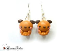 Kawaii dog earrings - polymer clay earrings by TenereDelizie