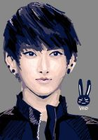 Exo-m Huang Zi Tao Lineless Painting by BunnyVoid