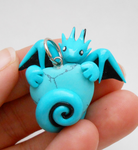 Turquoise Dragon Heart Pendant by Micrackin