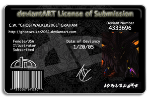 New DA License by Ghostwalker2061
