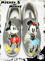 Classic Mickey Mouse and Minne by gucksshoes