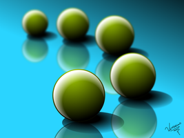 Green Balls One by RebirthArt