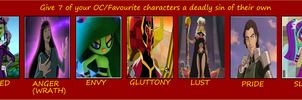 Seven Deadly Ladies of Sin by Dragonprince18
