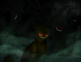 Welcome in dark forest... by shadowfeather01