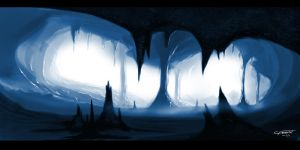 IceCave speedpainting by C-frost