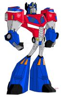 Animated Optimus Prime-Cybertron by TylerMirage