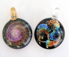Galaxy Glass Pendants by Create-A-Pendant