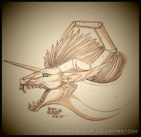 .:: Aquaeris the Windspirit - Sketch ::. by Windspirit-Aquaeris