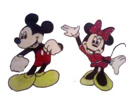 Disney Mickey and Minnie Mouse by soccerdog