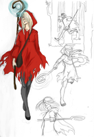 Red Riding Hood Iris by LilyScribbles