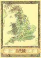 England and Cymru - AD 1086 Middle Ages by Mappa-Mundi