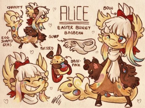 Alice Ref. Sheet [Commission w/ Outfit Design] by Baraayas