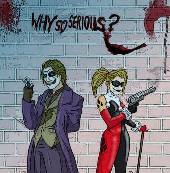 The Joker and Harley Quinn by Lectros