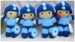 megaman amigurumis by pirateluv