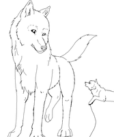 Wolf with pup FREE by Ahiku-wolf