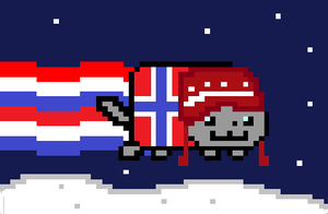 Nyan Cat - Norway by TheDerpestofNitrams