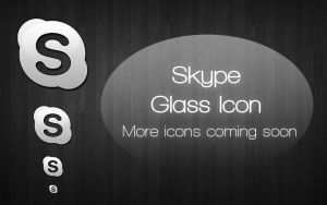 Skype Glass Style Icon by B0dylessch1cken