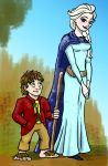 Bilbo and Elsa by moviedragon009v2