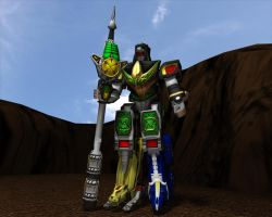 Dragonzord in battle mode by Wewvic