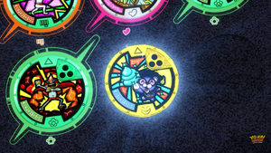 Yo-Kai Watch (Supoor Hero and Poofessor's medals) by ENDORE050