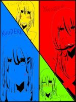 Four DEREs by Sapphire-Riza