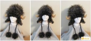 Commissioned Buffalo Hat by LimitlessEndeavours