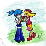 Day1 - Holding Hands by MacaHeroes