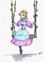 Melanie on the swing by MissJannie