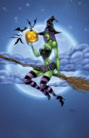 Witch Pinup by seanforney