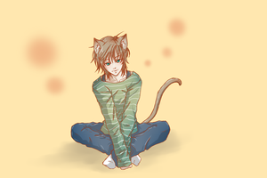 Neko Boy and Moving Neko Boy by KurenayYuki