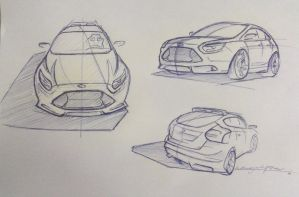 Fast Sketch of Ford Focus ST 2012 by Piotr04