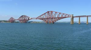 Forth Rail Bridge and Train by bobswin