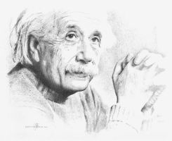 Albert Einstein Drawing by pencildrawn69