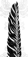 Tribal Eagle Feather by redLillith