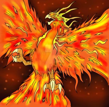 Phoenix Inked Colored by TreyMykel