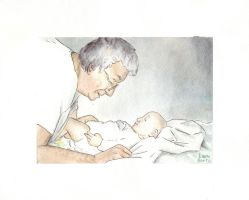 grandmother and baby by Di---Chan