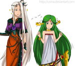Request for DAVE37 ~ Viridi Palutena Age swap ~ by uvina