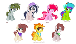 Ponies In Rafts Across The Exotic (Characters) by KitCatKombo