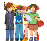 Pokemon Fusion: Ash Ketchum's team commission by hikariangelove