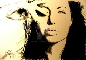 Angelina Jolie by Exenity