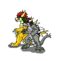 AT-Koopa Moro and Bowser by Scatha-the-Worm