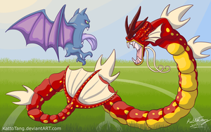 Battle of the Gaping Maws by KattoTang