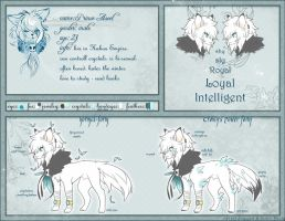 Ref Sheet: Prince Aseel by Snow-Body