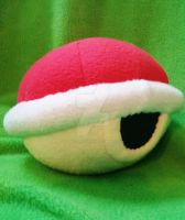 Red Koopa Shell - Plushie by Sparkle-And-Sunshine