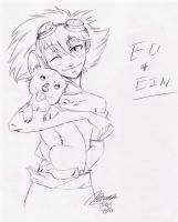 Ed and Ein by anime-fan-addict
