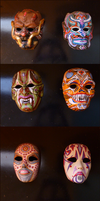 Ten masks by Lijj